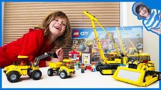 Download Construction Truck Videos | Lego Time Lapse Build City Construction Site Video