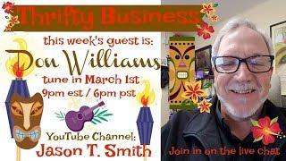 Download Thrifty Business Season 5 #13 Don WIlliams - Mayor, Restaurateur, Ebay Seller Video