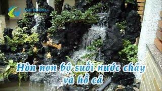 Download Hòn non bộ hồ cá có thác nước chảy | Hồ Cá Cảnh Dương Video