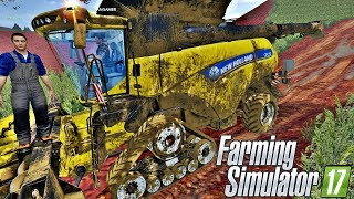 Download COLHEITADEIRA NEW HOLLAND PATINANDO NA LAMA | Farming Simulator 17 - Sítio Santa Rita Video