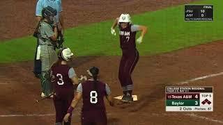 Download Softball: Highlights | A&M 10, Baylor 4 Video