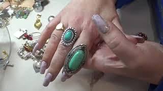 Download Awesome Goodwill Jewelry Jar- 14K gold, 925 Sterling, Monet, Cookie Lee and more Video