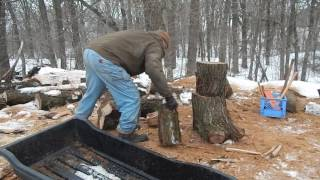 Download Splitting my firewood for a day Video