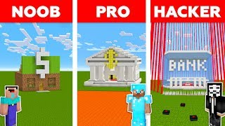 Download Minecraft NOOB vs PRO vs HACKER : SECURE BANK CHALLENGE in minecraft / Animation Video