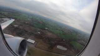 Download Taxi & Take-off from Manchester Airport, Greater Manchester, England - 20 March, 2019 Video