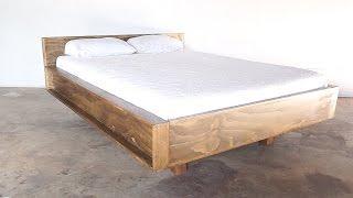 Download DIY Mid-Century Modern Bed   Modern Builds   EP.23 Video