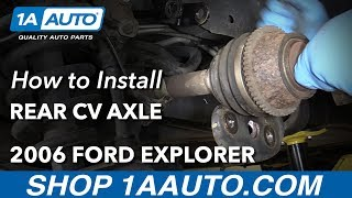 Download How to Install Replace Rear CV Axle 2006-10 Ford Explorer Video