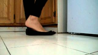 Download Shoeplay with black ballet flats ballerinas Video