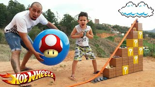 Download PISTA HOT WHEELS c/ Tijolinhos do Super Mario c/ Lucas Video