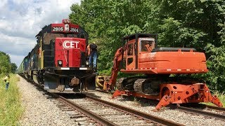 Download Railroad Track Put Back In Service! Shortline Railroad Chase And Update! CCET Video