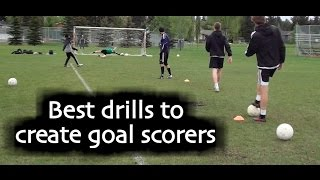 Download Soccer drills and training teach how to score more goals in soccer Video