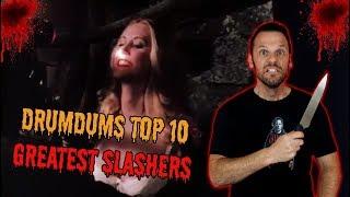 Download Drumdums Top 10 GREATEST SLASHER MOVIES! Video