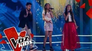 Download Angeline, Angie y Santiago cantan Libre – Batallas   La Voz Kids Colombia 2019 Video