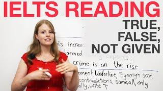 Download IELTS Reading strategies: True, False, Not Given Video