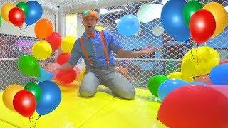 Download Blippi at the Indoor Playground to Learn Colors   Educational Videos for Toddlers Video