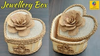 Download DIY Jewellery Box made from Jute Rope and Popsicle Sticks   Jute Jewellery Box   Pop Stick Crafts Video