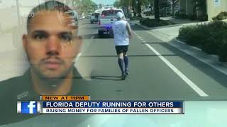 Download Retired Florida deputy running 390 miles from Ft. Myers to Tallahassee to honor fallen deputies Video