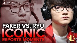 Download ICONIC Esports Moments: Faker vs. Ryu - SKT T1 K vs. KT B, HOT6iX 2013 Summer Finals (LoL) Video