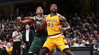 Download LeBron James, Giannis Antetokounmpo Duel in Cleveland Video