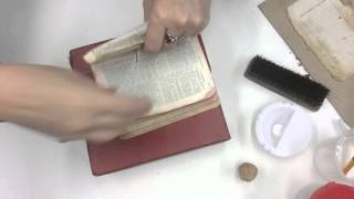 Download Reattach loose pages (a whole signature) of a bible: Save Your Books Video