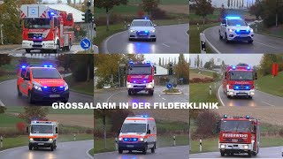 Download [GROSSALARM FILDERKLINIK] Einsatzfahrten Feuerwehr + Rettungsdienst Landkreis Esslingen Video