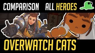 Download [Comparison] Overwatch but with Cats - ALL HEROES - ″Katsuwatch″ (UPDATED) Video