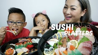 Download DELUXE SUSHI PLATTER MUKBANG | One Million Celebration Q&A + Give Away | N.E Let's Eat Video