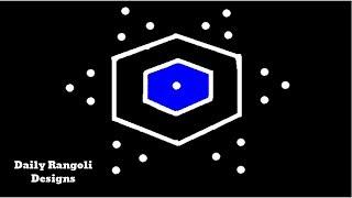 Download Very Easy Padi Kolam with 5X3 Dots | Rangoli Kolam | Simple Muggulu Designs |Simple Kolangal #851 Video