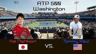 Download Kei NISHIKORI (JPN) vs. Tommy PAUL (USA) - Highlights - ATP 500 Washington - Quarterfinal Video
