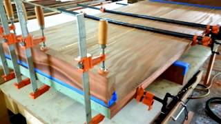 Download Gluing up large wood slabs - how to Video