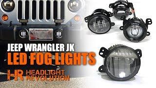 Download The Brightest Jeep Wrangler Fogs - Myotek OEM vs JW Speaker Vision X Morimoto LED Fog Lights Video