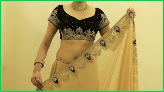 Download Proper Saree Draping Video | How To Wear Heavy Saree Blouse(Sari) Video