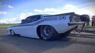 Download BRUTAL HEMI V8 SOUND!! Plymouth Cuda Dragster - Burnout, Acceleration Video