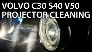 Download Headlights projector lens disassemble and cleaning in Volvo V50 S40 C30 C70 (halogen xenon bixenon) Video