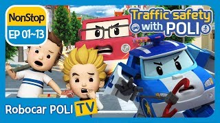 Download Traffic safety with POLI   EP 01 - 13   Robocar POLI   Kids animation Video
