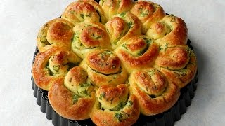 Download How To Make GARLIC FLOWER BREAD No Knead Bread TBEO Video #86 Video