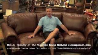 Download 100% Top Grain Leather Cowboy Sofa Video