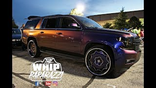 Download Flip Flop Wrapped Chevy Suburban on Forgiato Wheels Battle of the Whipz 2k17 Video