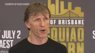 Download Jeff Horn meets boxing promoter Bob Arum at training Video