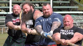 Download World's Strongest Men in a Tug o' War Challenge at Braemar Gathering Highland Games site in Scotland Video