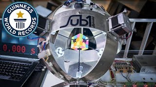 Download Sub1: The Robot that solves Rubik's Cubes - Meet The Record Breakers Europe Video