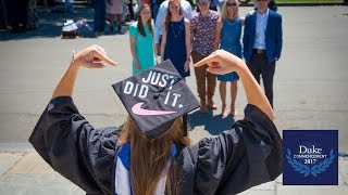 Download Moments from Duke's 2017 Commencement Video