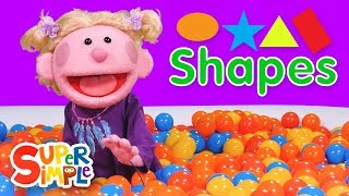 Download Super Duper Ball Pit | Learn About Shapes | Oval, Star, Triangle, Rectangle Video