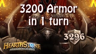 Download Hearthstone - 3200 armor in 1 turn Video