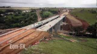 Download Time-lapse Construction Anthonys Cutting Realignment Project Video