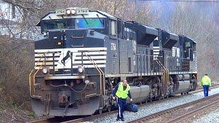 Download NS 73X Idling, Crew Change, And Departure Video
