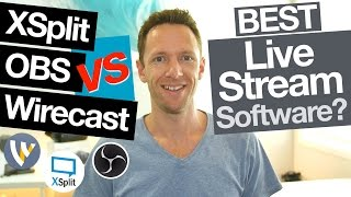 Download XSplit vs OBS vs Wirecast: Best Live Streaming Software for Mac and PC (Comparison!) Video