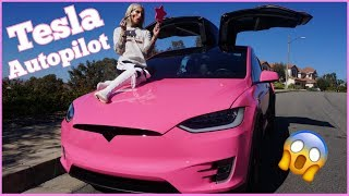 Download DOING MY MAKEUP ON TESLA AUTOPILOT! Video