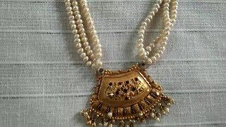 Download Pearl Haram gold locket Design from GRT Jewellers Video