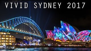 Download Vivid Sydney 2017 Light Show - Sydney Opera House, Harbour Bridge, MCA & Botanic Gardens Video